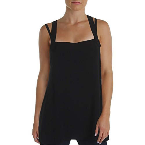 - Helmut Lang Womens Silk Trim Sleeveless Casual Top Black XS