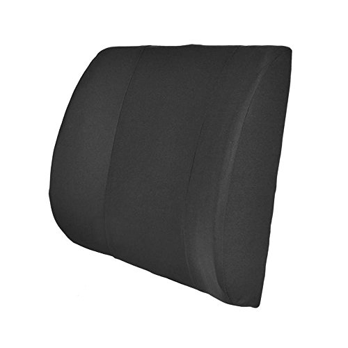 PrimeTrendz TM Portable Orthopedic Lumbar Back Support Memory Foam /& PU Leather Seat Cushion in Black by USA Cash and Carry