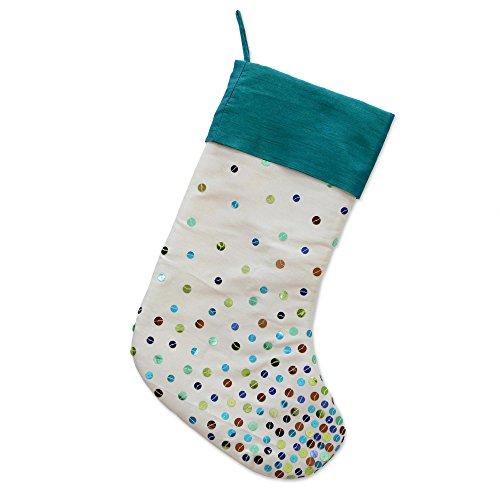 - NOVICA HD0078 Glittering Christmas' Sequined Stocking