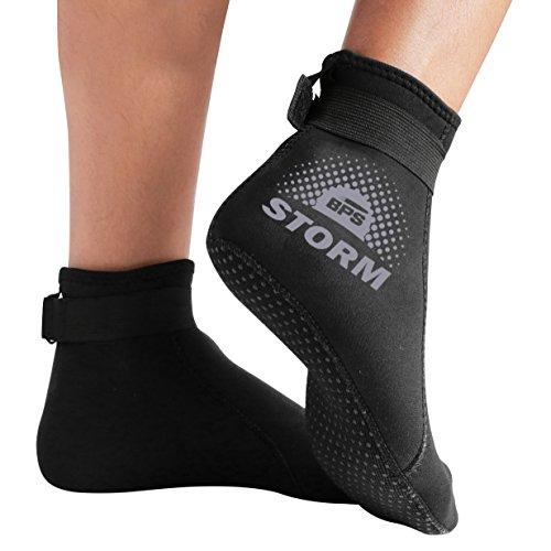BPS Neoprene Socks (LC) - Black w/Lilac Grey Accent - L