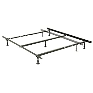 harvard adjustable nh50gc4 heavy duty bed frame with keyhole cross arms and 5 2piece glide legs full queen
