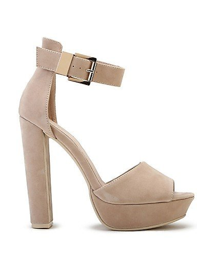Dress Velvet Heels Almond Shoes Party Toe Platform Chunky Casual Evening Sandals Black ShangYi amp; Womens Peep almond Heel q1OwxSxEnF