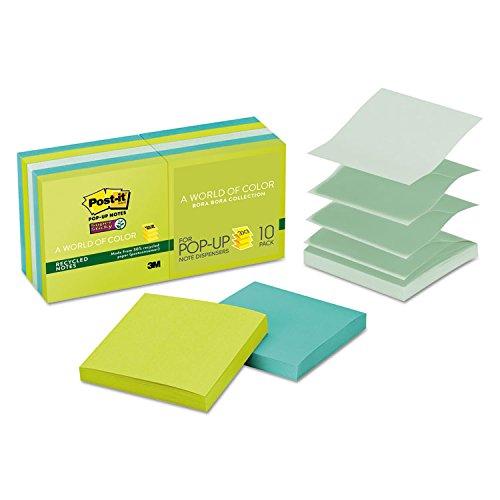 * Super Sticky Pop-Up Notes, 3 x 3, Tropic Breeze, 10 90-She