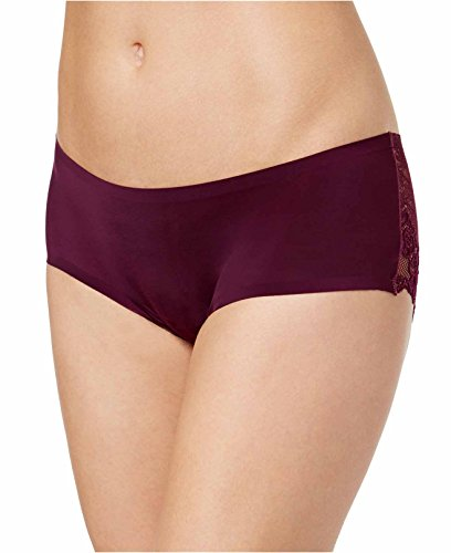 Free People Women's Gabrielle Sheer Lace Hipster Briefs (Small, Eggplant)