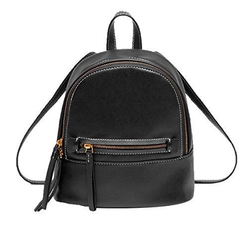 Bolso De Hombro De Mujer Mini Mochila De Moda Simple Bolso Informal Daypack negro