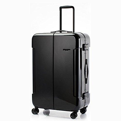 HIDEO WAKAMATSU ヒデオワカマツ ナローII 超軽量 スーツケース LL ハードキャリー TSA 90L ブラック 85-76380-BK B07841ZYBF