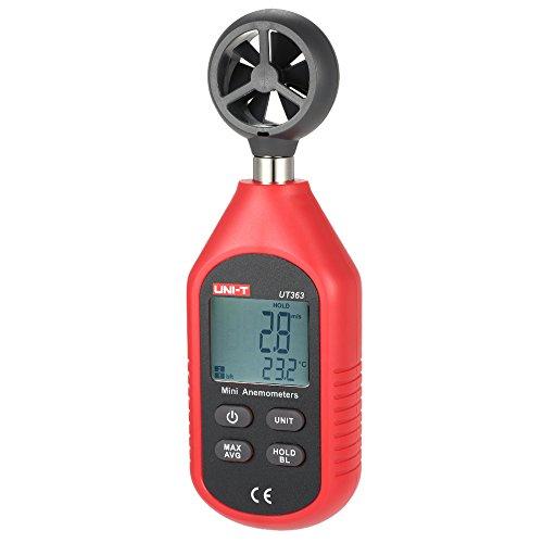 UNI-T UT363 Mini Anemómetro Termómetros Velocidad del Viento Pantalla LCD Temperatura de Medición Viento Frío: Amazon.es: Bricolaje y herramientas