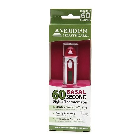 Veridian Healthcare 60 Second Digital Basal Thermometer - 3PC