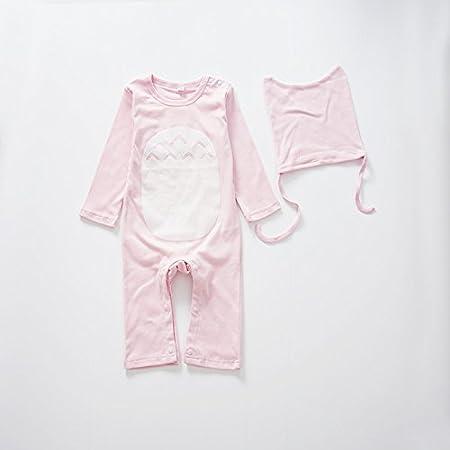 QMGLBG Ropa para bebés Mameluco Mono recién Nacido Ropa para niños Mono para niños y niñas Ropa de bebé algodón bebé + Sombrero: Amazon.es: Hogar