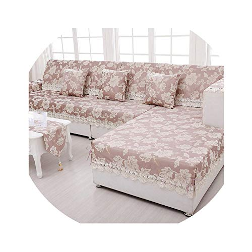 Sofa Towel Jacquard Lace Sofa Cover Armrest Slipcover Chenille Fabric Couch Covers Set Sectional Seat Covers Cushion Home Decor,02,70X70Cm ()