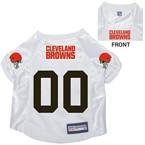 Hunter NFL Cleveland Browns Pet Jersey, Medium, White -