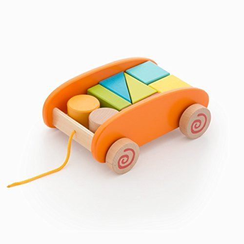 Amazon.com: COLOR BABY colorbaby – Cart Wood Blocks 22 piezas: Toys & Games