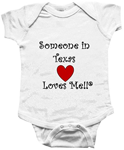 SOMEONE IN TEXAS LOVES ME - TEXAS BABY - State-series - White Baby One Piece Bodysuit - size Large (18M) (One Series Piece)