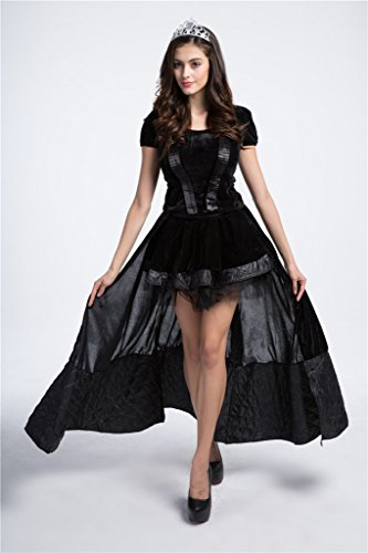 Bigood Femme Déguisement Cosplay Princesse Queen Gotique Halloween