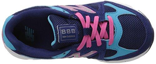 New Balance kj888V1Grado Zapatilla de Running (Big Kid) Azul/Rosado
