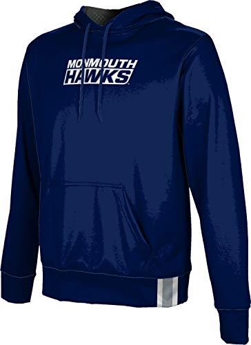 ProSphere Monmouth University Boys' Pullover Hoodie, School Spirit Sweatshirt (Solid) FF62 Blue and Gray