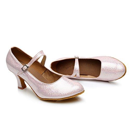 VASHCAMER Danse Rose Chaussures pour Femme de Talons Hauts Sandales rUrCwq