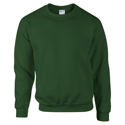 Gildan DryBlend Adult Set-In Crew Neck Sweatshirt (13 Colours) (S) (Forest Green)