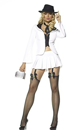 Lady Gangster 4 Piece Costume X Small