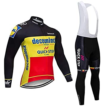 SUHINFE Ropa Conjunto Traje Manga Larga Ciclismo Hombre Verano con 3D Acolchado de Gel, Maillot Ciclismo + Pantalon/Culote Bicicleta para MTB Ciclista ...