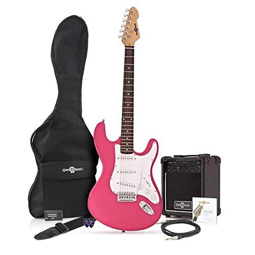 Paquete de Amplificador de 10 W Rosa Guitarra El/éctrica LA