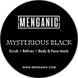 Menganic Mysterious Black (Scrub, Refiner, Face & Body Mask) For Deep Cleansing & Exfoliation - 125 Grams