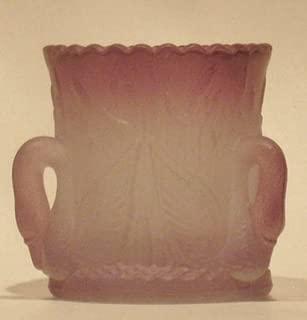 product image for Elegant Triple Swan Handpainted Purple Satin Glass Toothpick Holder