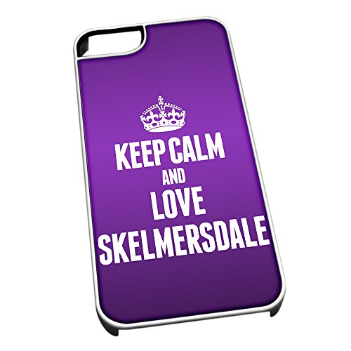 Bianco Cover per iPhone 5/5S 0580 Viola Keep Calm And Love Skelmersdale