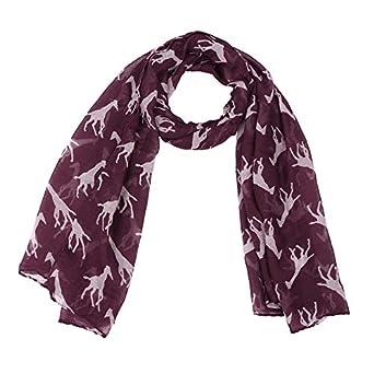 c74fe0a74b1 TOOGOO Chale Foulard en Mousseline de soie Foulards Longue echarpe  Accessoire (Voile Violet (90cmx180cm