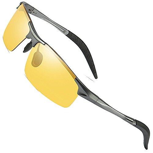 - MOTELAN Men's Photochromic Polarized UV400 Sunglasses for Outdoor Fishing Golf Beach Baseball Sports Brown