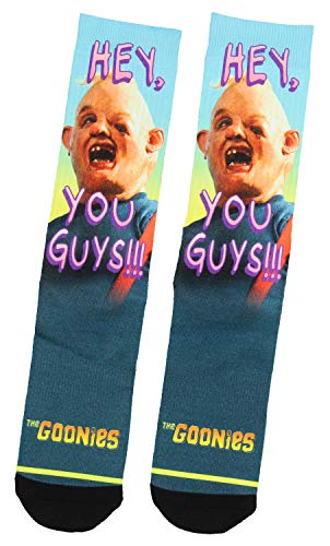 The Goonies Hey You Guys!! Sloth Character Sublimated Adult Crew Socks -