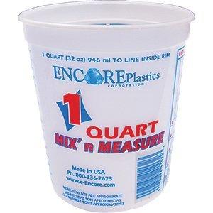 Mix N Measure Container - Encore 41032 Qt Mix N Measure Plus Ratios Container - 100ct. Case