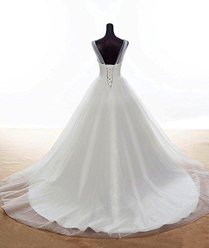 Tulle Linea A Donne Scollo Sposa Aurora V Di Bianca Gwons Prom Una Di Damigella D'onore wZHxCqCTn