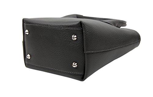 """SLIN GBAG """"Jana pequeño Shopper/bolso de mano en piel de alta calidad en negro"""