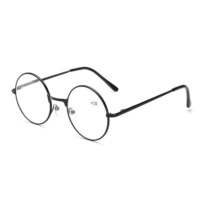 GEMSeven Gafas de lectura redondas de marco de metal retro: Amazon.es: Ropa y accesorios