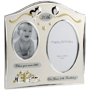 Double Then And Now 30th Birthday Photo Frame Gift Amazoncouk