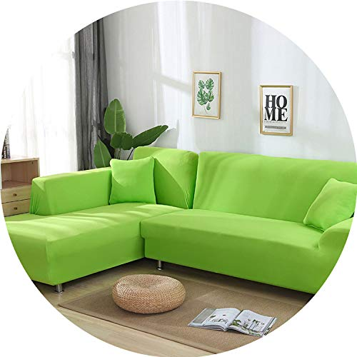 I'm good at you Grey Color Tight Wrap Sofa Cover Elastic Needs Order 2 Pieces Sofa Cover If L-Style Sectional Corner Sofa capa de Sofa,Light Green,3 Seater and 4 - Sectional San Antonio