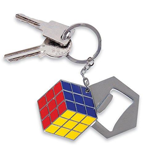 Rubiks Cube Bottle Opener Keychain