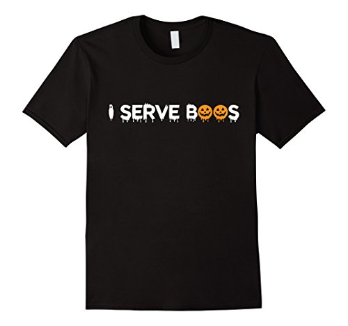 [Mens This Is My Bartender Costume Shirt Gift | I Serve Boos Shirt 2XL Black] (Bartender Costume Male)