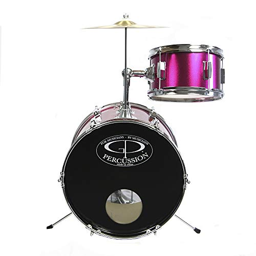 GP Percussion GP50MPK Complete Junior Drum Set (Pink, 3-Piece Set) by GP Percussion (Image #2)