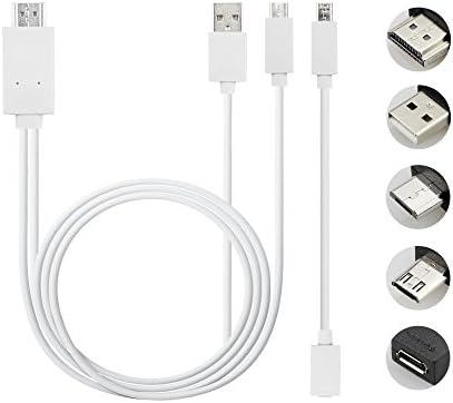 Cable de teléfono a televisor Acnacy, cable micro de 2 m de USB a HDMI, cable