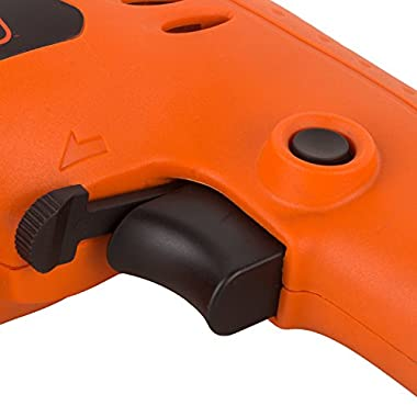 BLACK+DECKER BD65RD 400W 6.5mm Variable Speed Reversible Rotary Drill (Orange, 2-Pieces) 9
