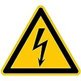H.Klar Aufkleber Warnung vor gefährlicher elektrischer Spannung D-W008 SL 100mm