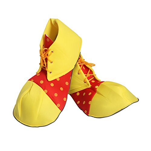 EBTOYS Clown Shoes Jumbo Large Clown Shoes Halloween Costumes Accessories,One Size