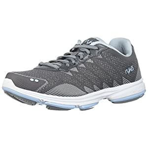 RYKA Women's Dominion Walking Shoe, Frost Grey/Soft Blue/Chrome Silver, 6.5 W US