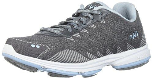 Ryka WoMen Dominion Walking Shoe Frost Grey/Soft Blue/Chrome Silver
