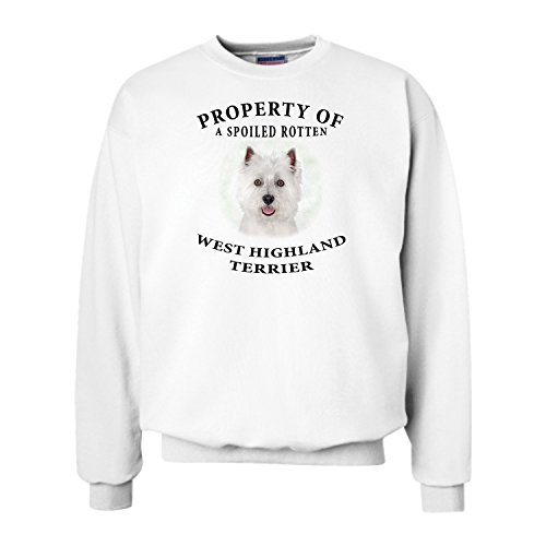 (West Highland Terrier Westie Property Of Adult Sweatshirt - LARGE)
