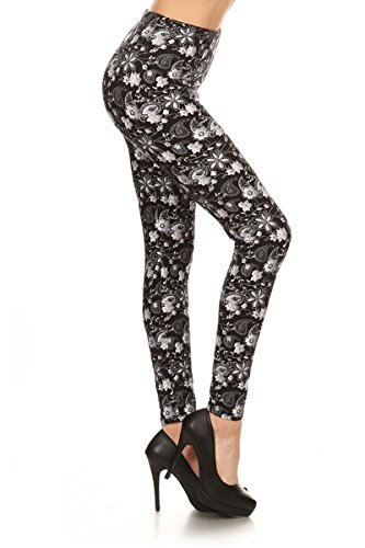 Print Leggings Paisley Floral (R682-PLUS)