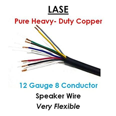 Heavy gauge electrical wire wire center amazon com lase 12 awg gauge 8 conductor heavy duty speaker wire rh amazon com 10 gauge electrical wire heavy gauge electric fence wire greentooth Images
