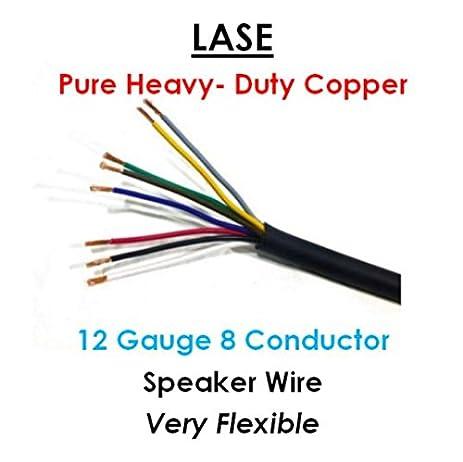 Heavy gauge electrical wire wire center amazon com lase 12 awg gauge 8 conductor heavy duty speaker wire rh amazon com 10 gauge electrical wire heavy gauge electric fence wire keyboard keysfo Gallery